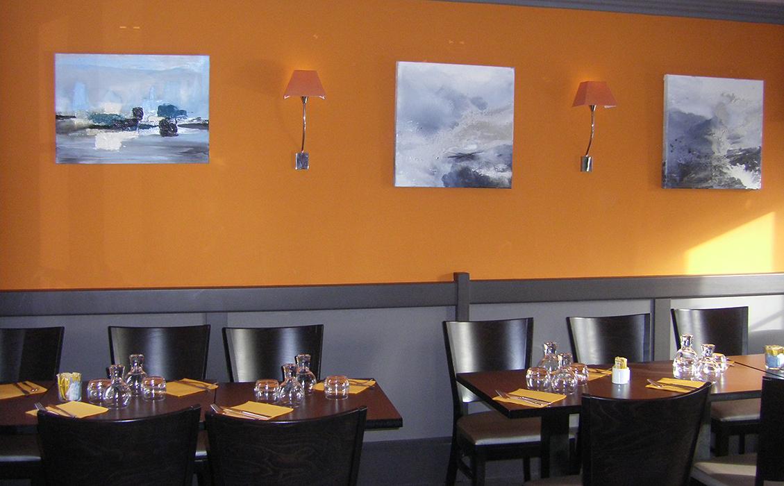 Exposition de Catherine Mourier-Godin au restaurant la taverne de Fontainebleau